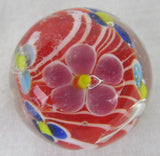 DAHLIA Handmade Art Glass Collector Marble~22mm