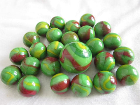 25 DRAGON Glass Marbles