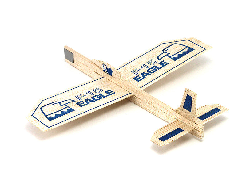 4 Eagle F-15 Balsa Wood Gliders