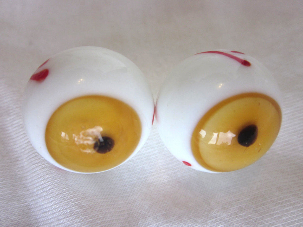 BROWN EYEBALL Handmade Glass Marble~21mm