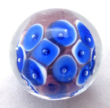 FROG SPAWN Handmade Art Glass Collector Marble~22mm