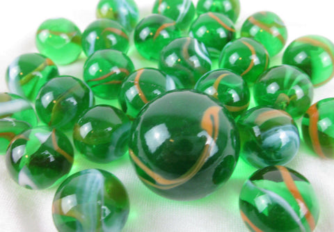 25 JUNGLE Glass Marbles