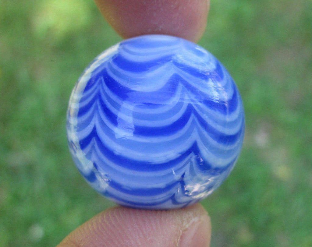 BLUE RIALTO Handmade Art Glass Collector Marble~25mm