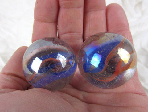 2 FUNFAIR Glass Marbles~35mm Boulders
