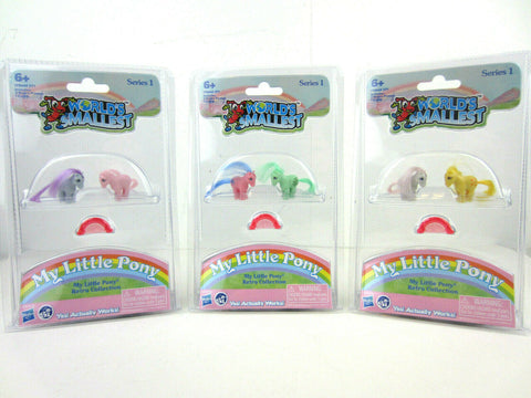 Set of 6 World's Smallest My Little Pony