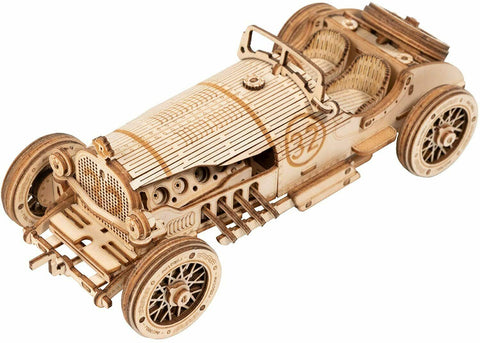 GRAND PRIX RACE CAR Indy 500 Wood Scale Model Kit ROKR 3D Puzzle