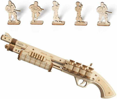 Terminator M870 Rubber Band Gun Wood Model Kit ROKR