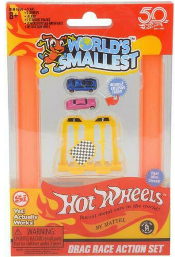 Worlds Smallest Hot Wheels DRAG RACE ACTION SET