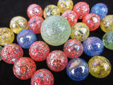 25 STARDUST Glass Marbles
