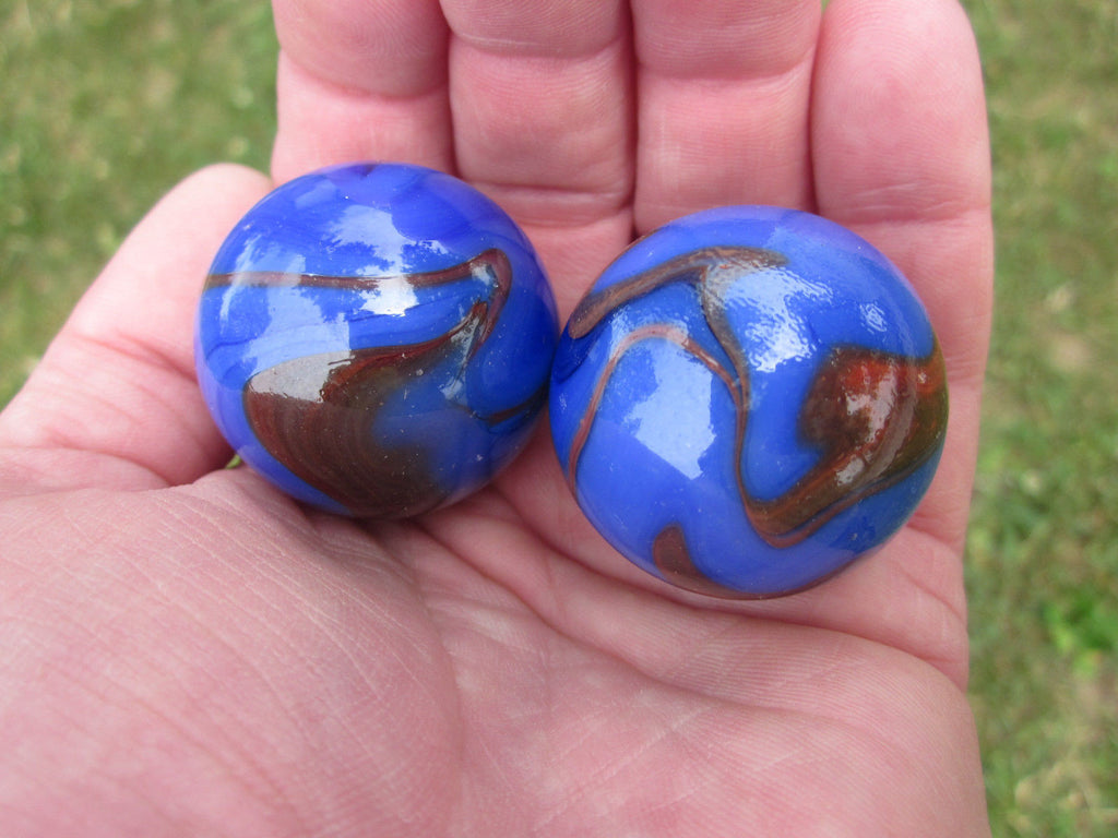 2 VOLCANO Glass Marbles~35mm Boulders