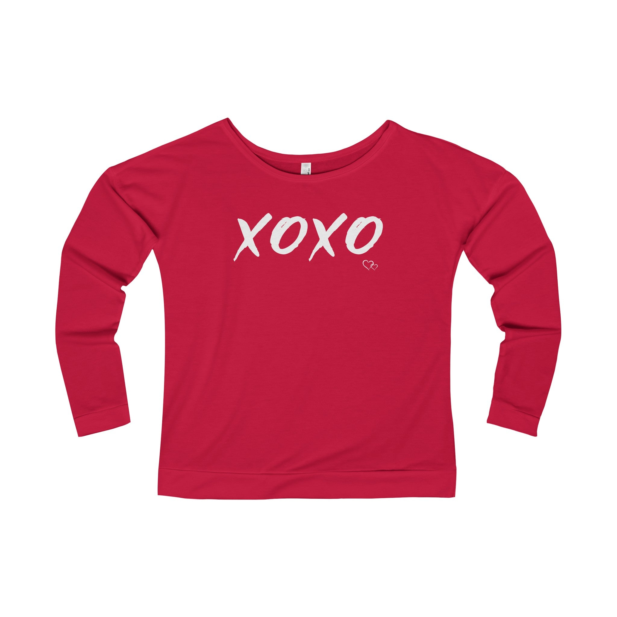XOXO - Long Sleeve Scoop Terry T