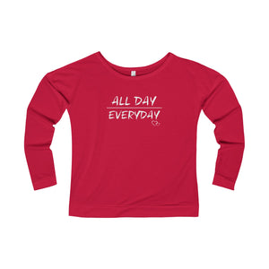 ALL DAY EVERYDAY - Long Sleeve Scoop Terry T