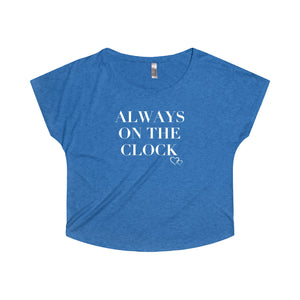 ALWAYS ON THE CLOCK - Loose Dolman Sleeve