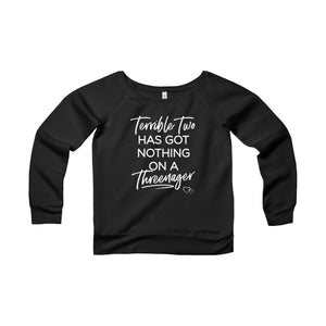 TERRIBLE TWO / THREENAGER - Wide Neck Sweatshirt