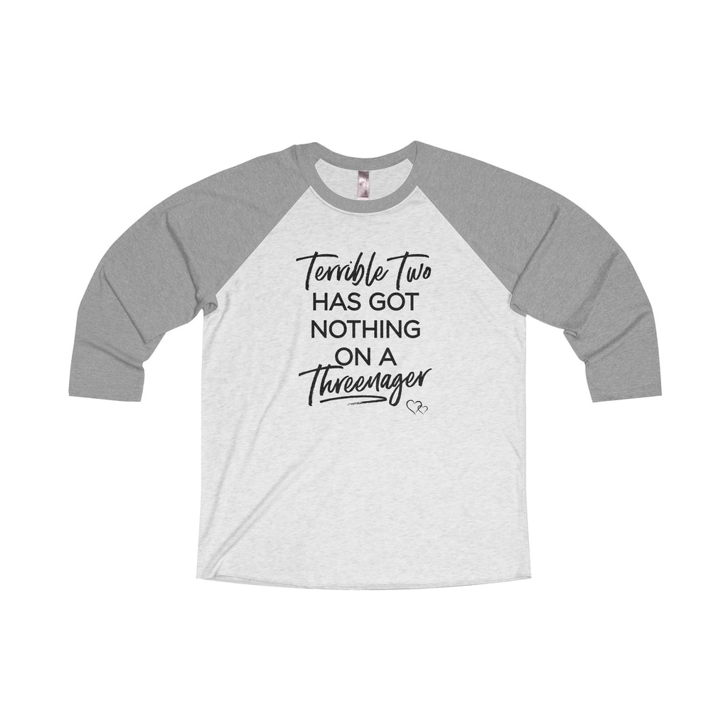 TERRIBLE TWO / THREENAGER - Baseball 3/4 Sleeve (Unisex)
