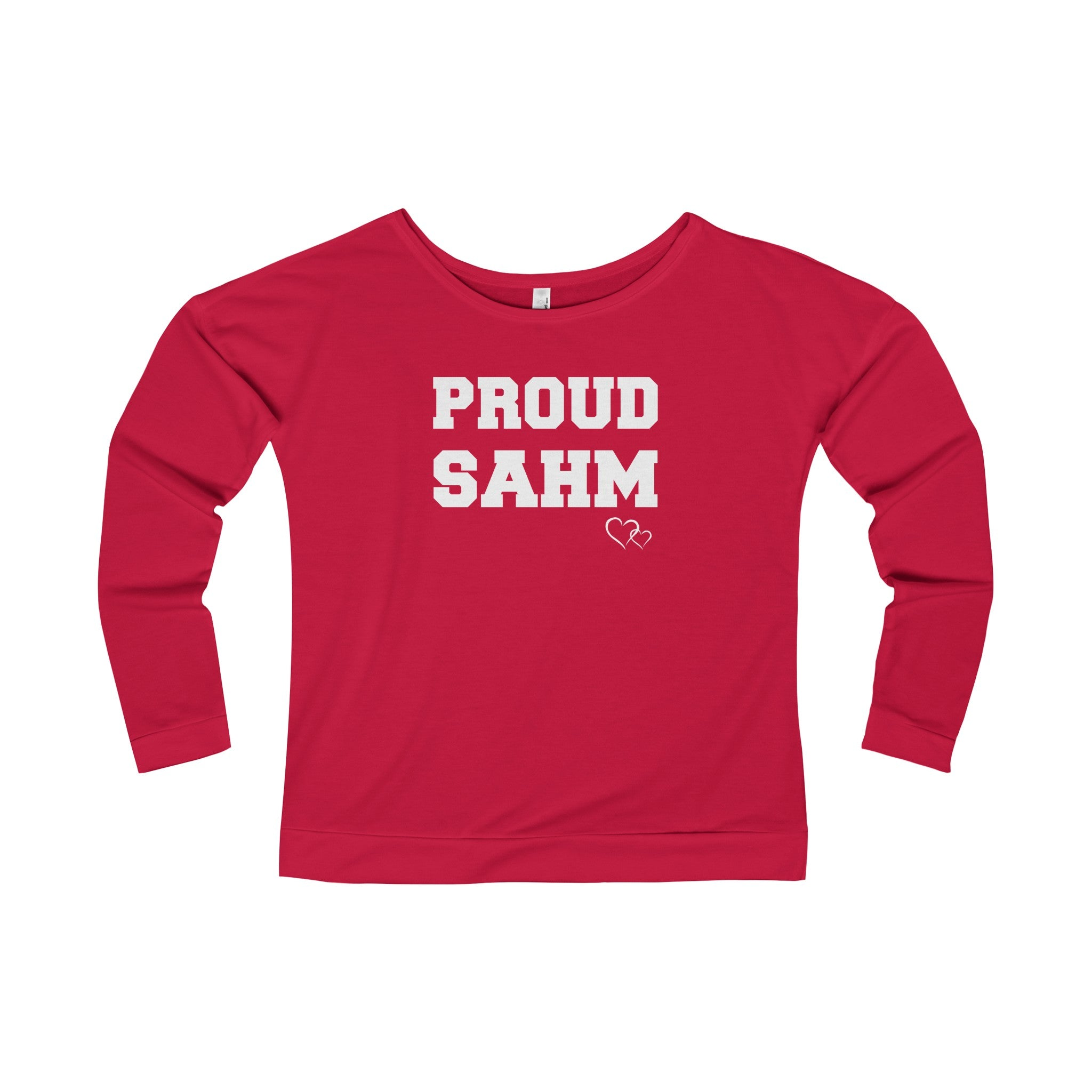 PROUD SAHM - Long Sleeve Scoop Terry T