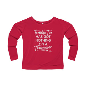 TERRIBLE TWO / THREENAGER - Long Sleeve Scoop Terry T