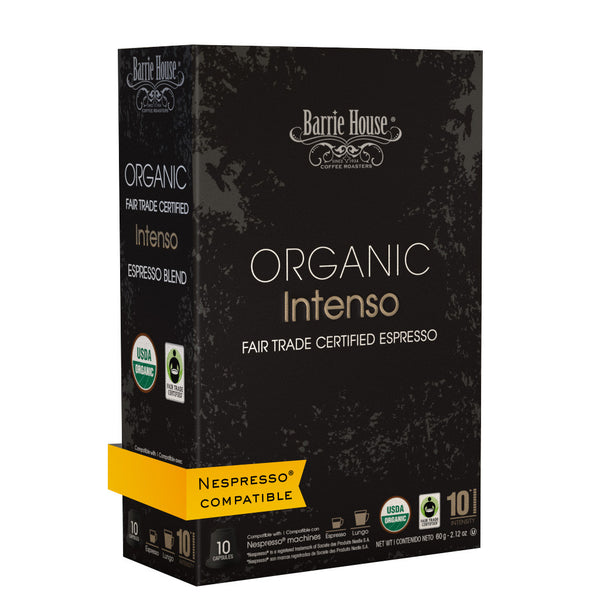 Barrie House Organic Fair Trade Intenso Espresso Capsules 160 ct
