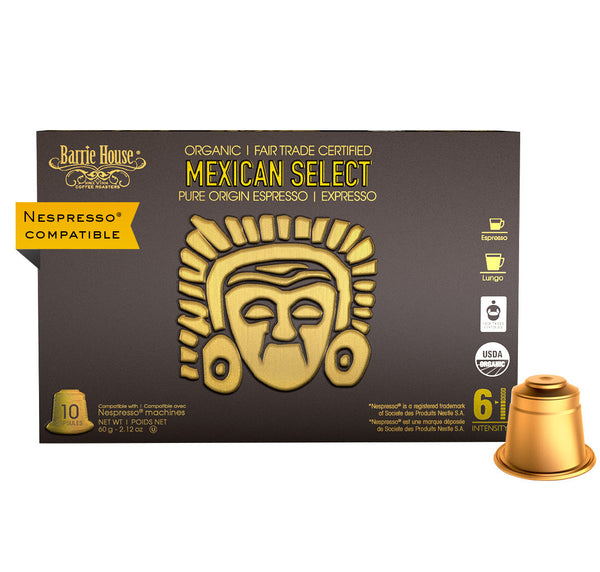 Barrie House Organic Fair Trade Mexican Select Espresso Capsules 40 ct