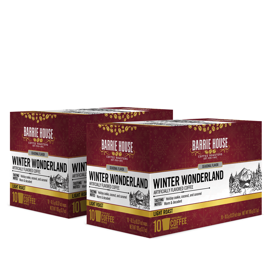 Winter Wonderland<br>Flavored Coffee<br>2 Pack / 10 ct Boxes