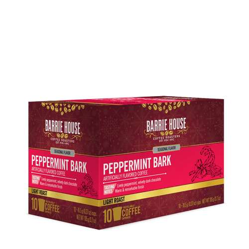 Peppermint Bark<br>Flavored Coffee<br>10 ct Capsules