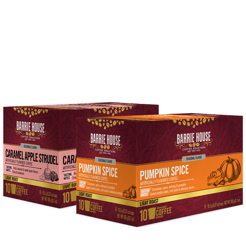 Fall Favorites Assortment<br>Flavored Coffee<br>2 Pack / 10 ct Boxes