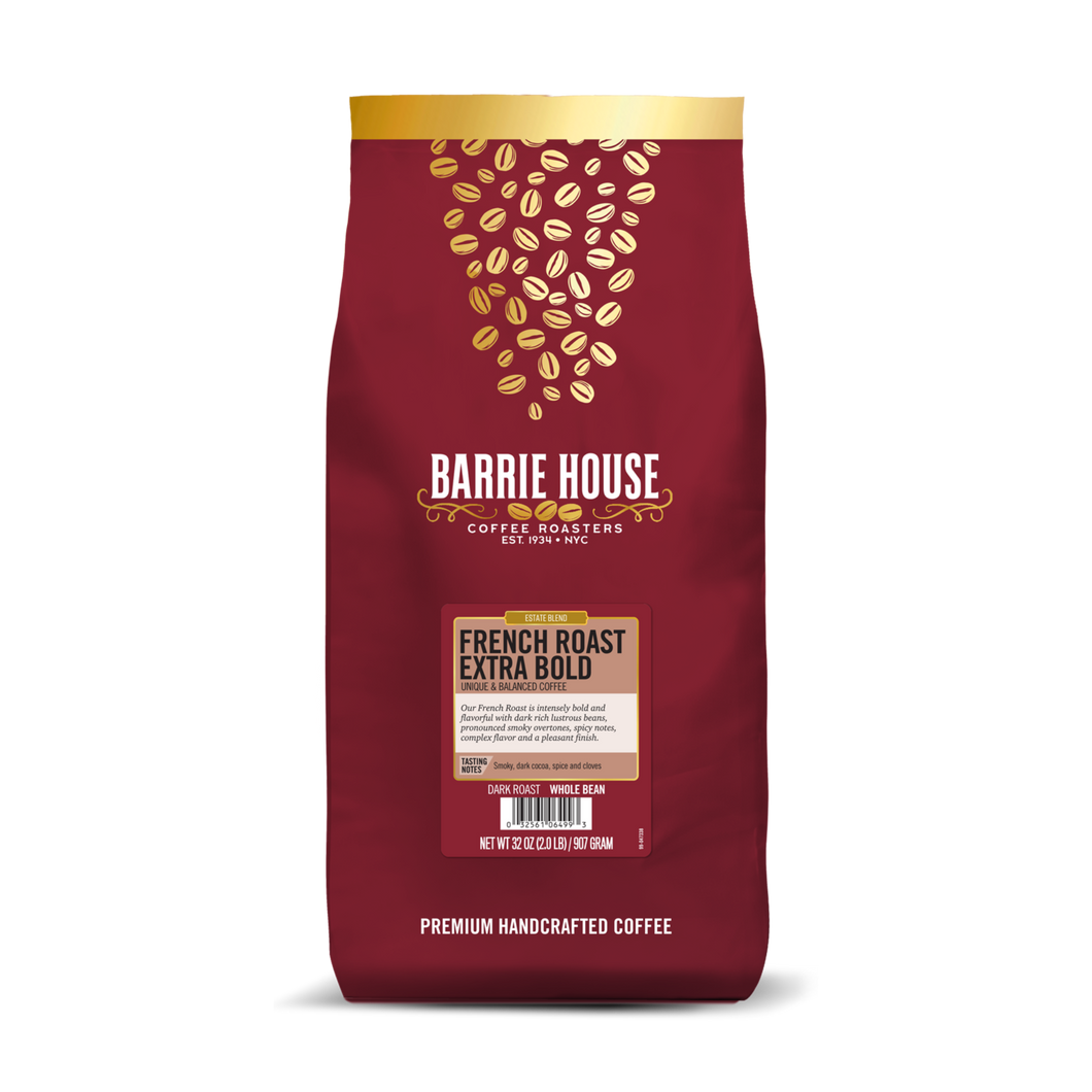French Roast Extra Bold<br>Estate Blend <br>2 lb Bag - Whole Bean<br>