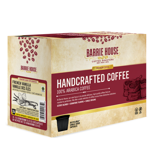 French Vanilla<br>Fair Trade Flavored Coffee<br>24 ct Single Serve Capsules<br>