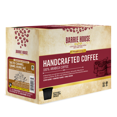 Salted Caramel<br>Fair Trade Flavored Coffee<br>24 ct  Single Serve Capsules<br>