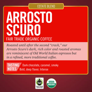 Arrosto Scuro<br>Fair Trade Organic Coffee<br>10 ct Capsules