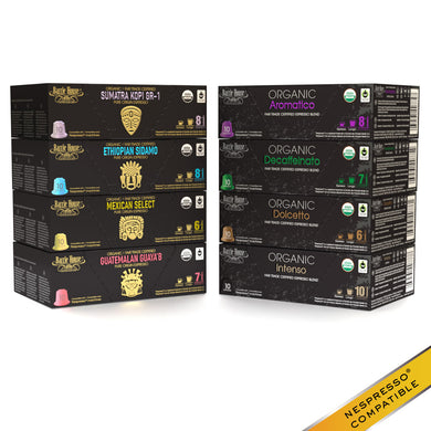 Barrie House Organic Fair Trade Espresso Lovers Variety Pack Capsules 160 ct