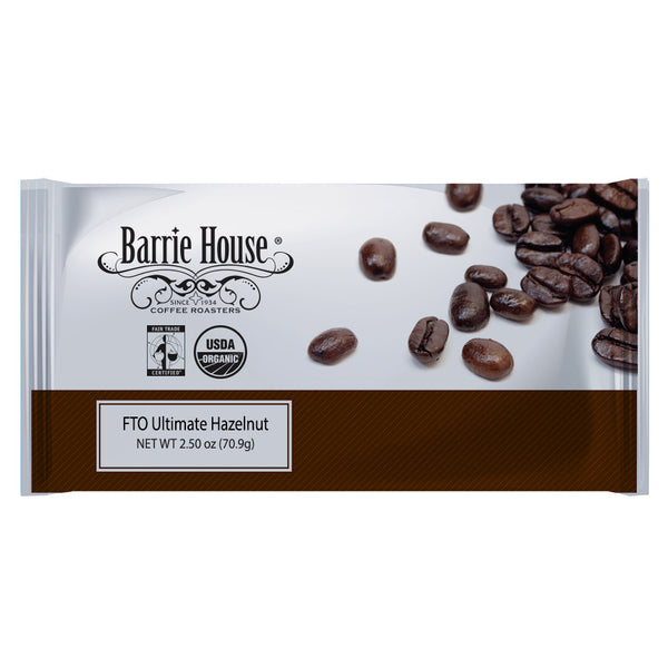 Barrie House Fair Trade Organic Ultimate Hazelnut 24/2.50 oz ground flavored coffee