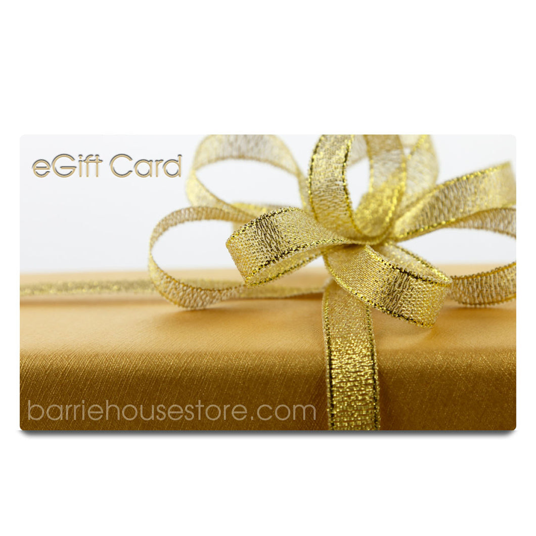 Not Too Late to Send a Barrie House $50.00 eGift Card