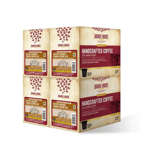 Salted Caramel <br>Fair Trade Flavored Coffee<br>4 Boxes /24 ct Per Box