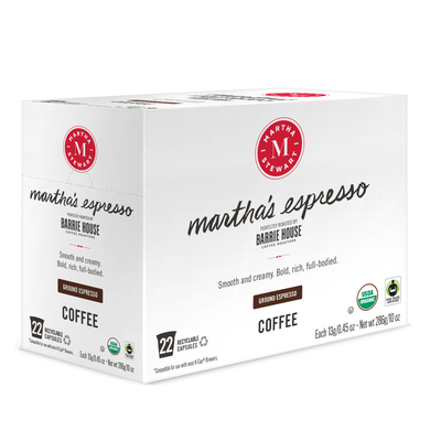 Martha's Espresso<br>Single Serve Capsules<br>22 ct