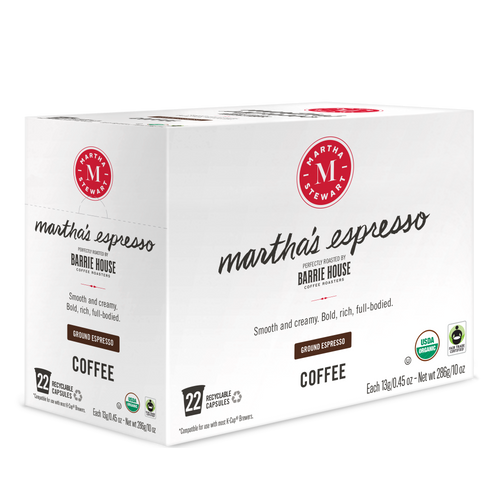 Martha's Espresso<br>Fair Trade Organic Coffee<br>22 ct - Single Serve Capsules