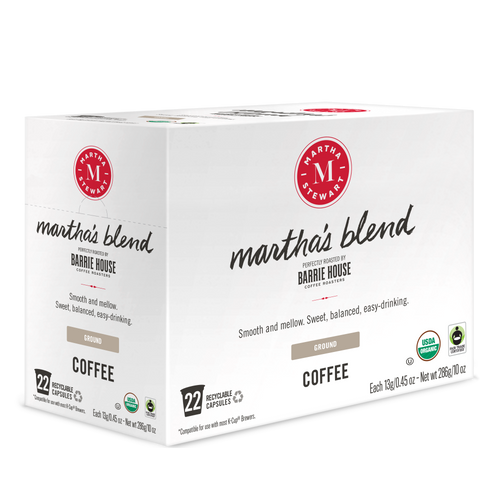 Martha's Blend<br>Fair Trade Organic Coffee<br>22 ct - Single Serve Capsules