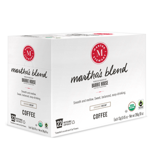 Martha's Blend Decaf<br>Fair Trade Organic Coffee<br>22 ct - Single Serve Capsules