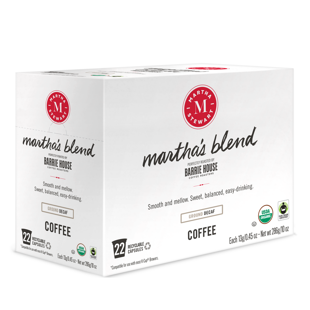Martha's Blend Decaf<br>Single Serve Capsules<br>22 ct