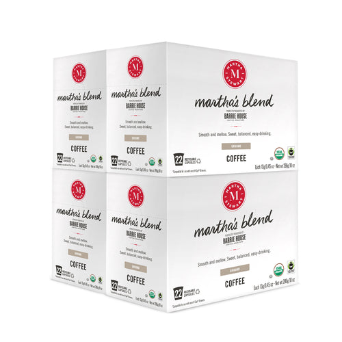 Martha's Blend<br>Fair Trade Organic Coffee<br>4 boxes / 22 ct Capsules