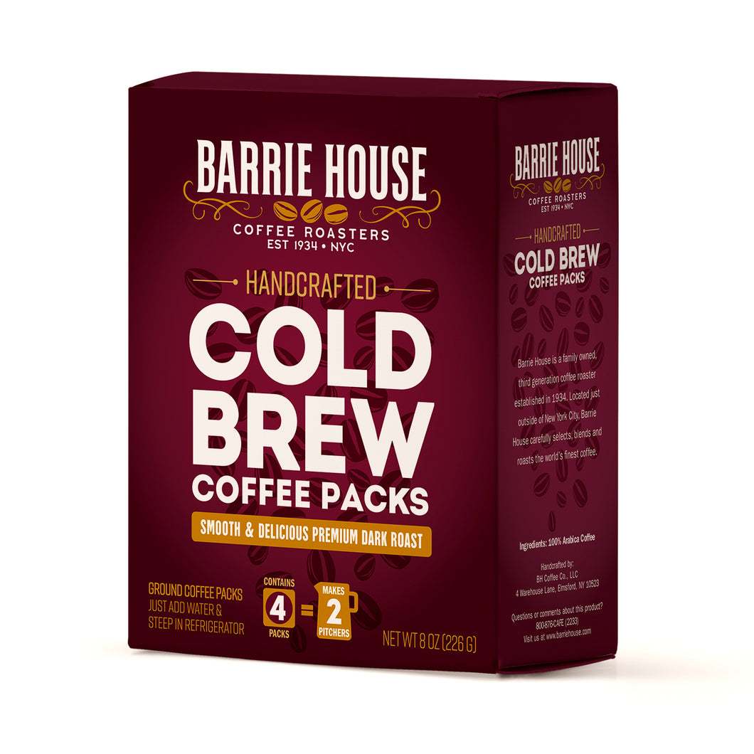 Cold Brew<br>Coffee Packs<br>4 Packs - 8 oz