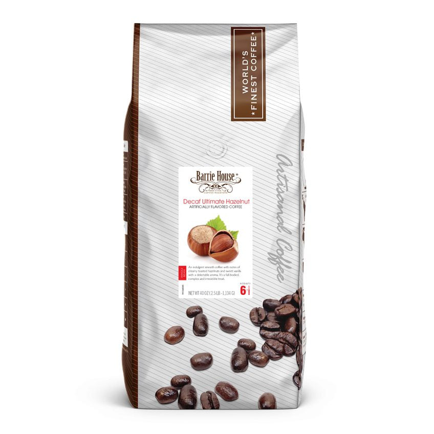 Ultimate Hazelnut<br>Decaf Whole Bean<br>2.5 lb Bag