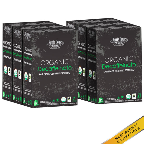 Barrie House Organic Fair Trade Decaffeinato Espresso Capsules 60 ct