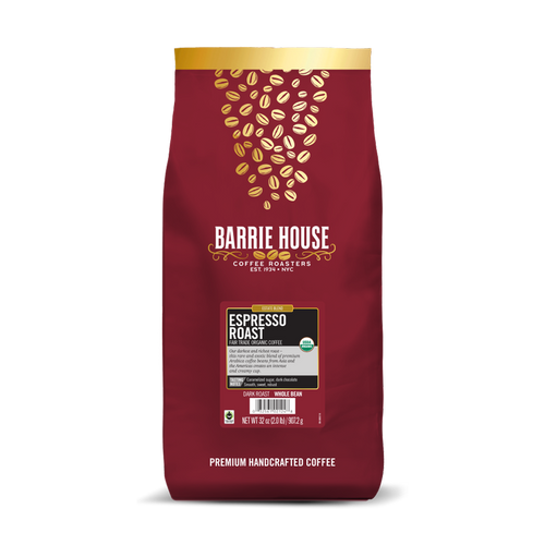 Espresso Roast<br>Fair Trade Organic Coffee<br>2 lb Bag - Whole Bean