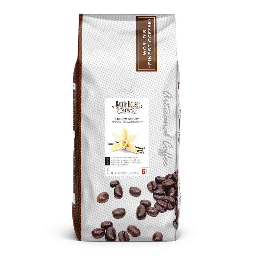 French Vanilla<br>Whole Bean<br>2.5 lb Bag