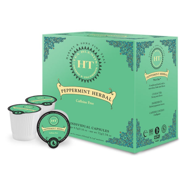 Harney Peppermint Herbal Tea Single Serve Capsules 4/16 ct