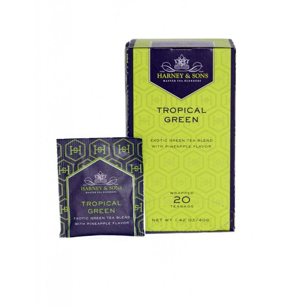 Harney & Sons Tropical Green 20 ct Tea Bags