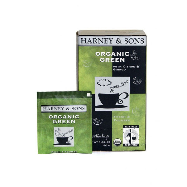 Harney & Sons Organic Green Citris, Ginkgo 6/20 ct Tea Bags