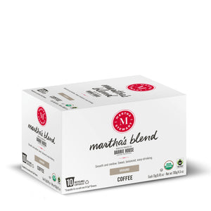 Martha's Blend<br>Fair Trade Organic Coffee<br>10 ct - Single Serve Capsules