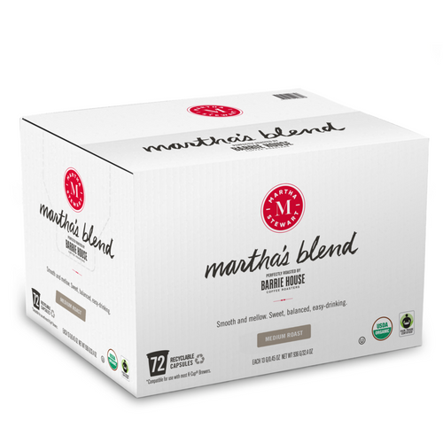 Martha's Blend<br>Fair Trade Organic Coffee<br>72 ct - Single Serve Capsules